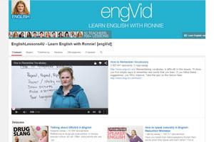 Видеоканал преподавателя-носителя языка Ронни поможет выучить английский язык