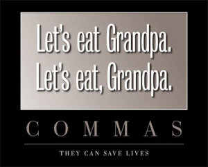 Commas can save lives
