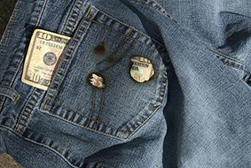 Money burns a hole in someone's pocket