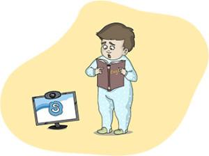 Вредный совет: пусть ребенок учит английский по Скайпу с трех лет