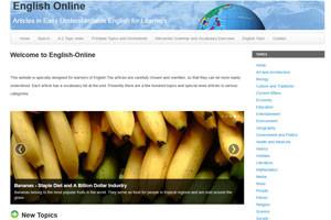 Читайте статьи на английском на сайте English Online