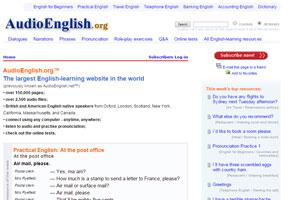 AudioEnglish - сайт с большим количеством подкастов