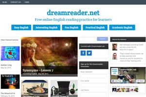 Dreamreader - это сайт с аутентичными статьями из Интернета на английском