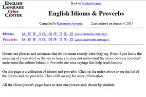 На сайте English-Idioms-&-Proverbs собраны идиомы и поговорки английского языка