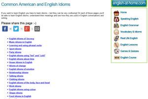 English-at-home поможет вам овладеть идиомами английского языка