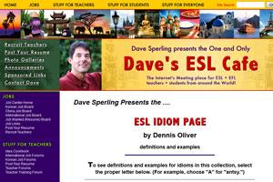 В блоге преподавателя Dave собраны многие идиомы английского