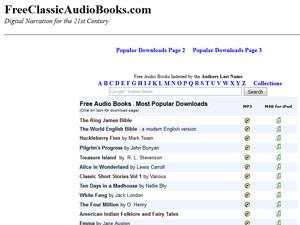 С помощью FreeClassicAudioBooks  вы сможете бесплатно прослушивать аудиокниги на английском