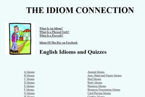 Idiomconnection - один из лучших сайтов для изучения английских идиом.
