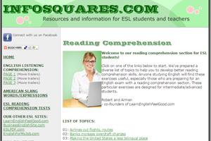 Ресурс Infosquares предлагает не только читать тексты на английском, но и выполнять задания после прочтения
