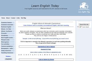 На сайте Learn-English-Today есть разбивка идиом и по алфавиту, и по темам