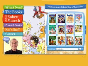 Авторский сайт Robertmunsch создан специально для детей