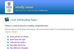 На сайте Study Zone представлены разнообразные задания на понимание текстов.