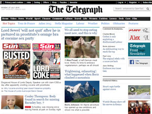"""Вместе с """"The daily Telegrapgh"""" вы сможете быть в курсе всех новостей в англоязычном мире."""