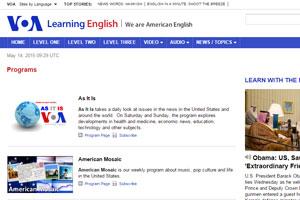 Сайт с американскими подкастами от популярного канала Voice of America