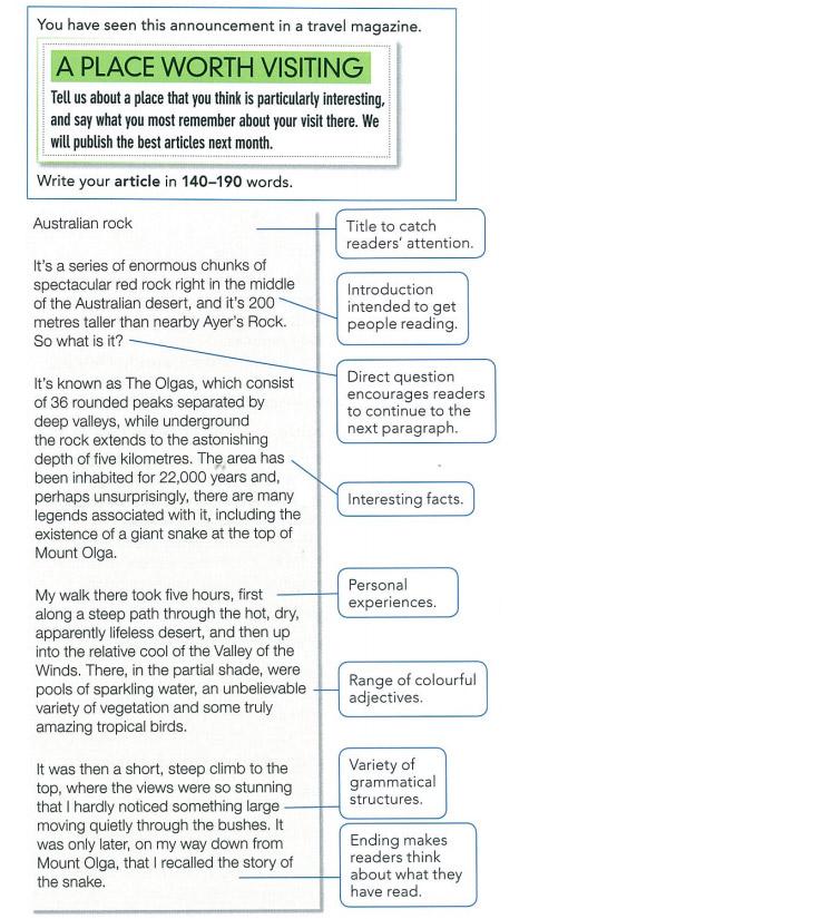 Пример статьи для экзамена FCE