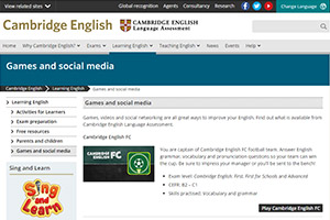 Cambridge English — подборка простых и забавных онлайн-игр