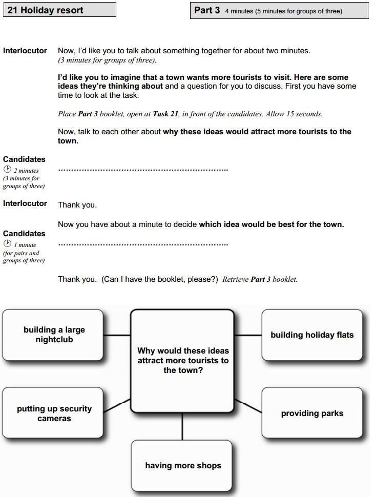 Пример задания collaborative task на экзамене FCE