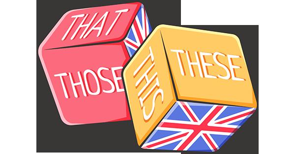 Указательные местоимения в английском языке