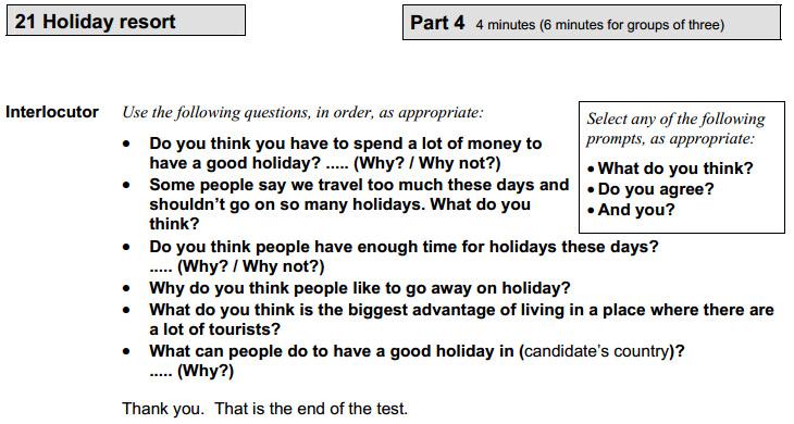Пример задания discussion на экзамене FCE