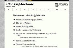 Библиотека университета Аделаиды eBooks@Adelaide
