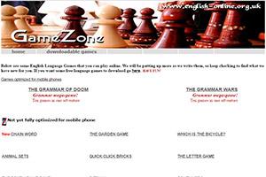 English-online — сайт с занимательными онлайн-играми для изучения английского