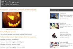 на сайте esolcourses собраны обучающие материалы по хеллоуину