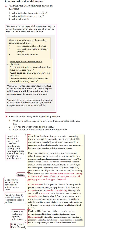 Пример эссе для экзамена CAE