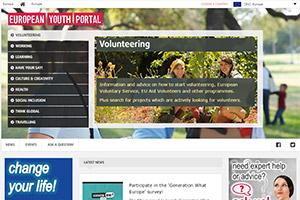 Сайт Европейского молодежного портала