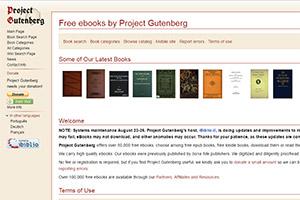 Электронная бесплатная библиотека Gutenberg