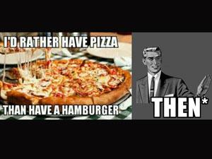 Пицца или гамбургер