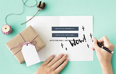 interactive gift helper