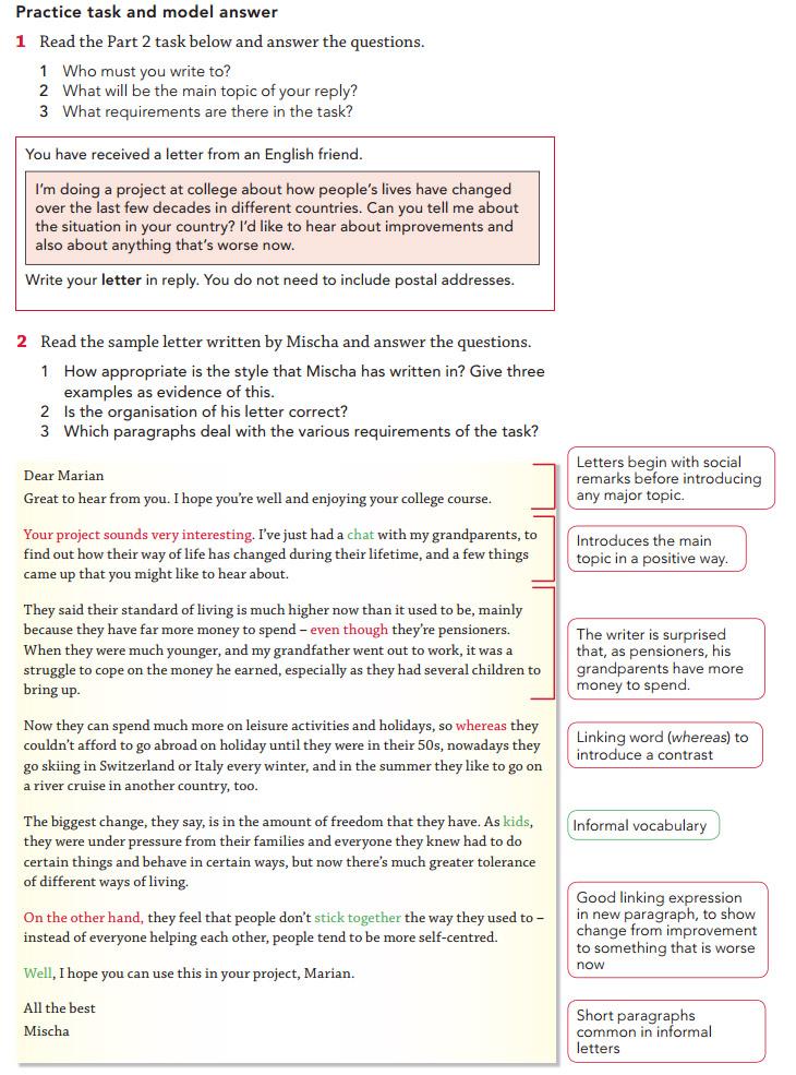 Пример письма для экзамена CAE