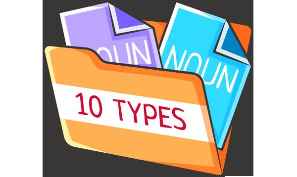 Существительное в английском языке: 10 типов