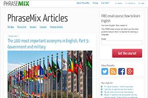 Англоязычный блог проекта PhraseMix
