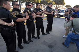 Полицейские с рогатками