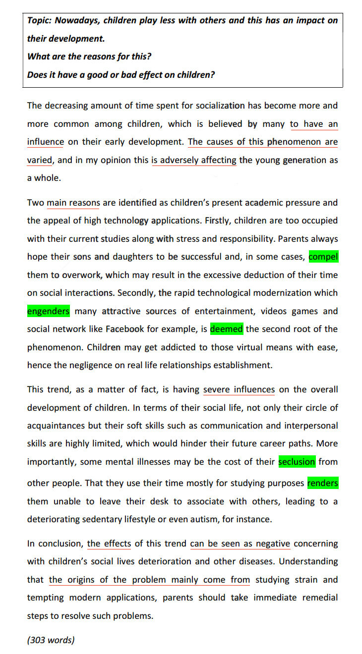 образец cause and effect or solution essay