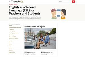 Крупный проект по обучению английскому языку ThoughtCo.