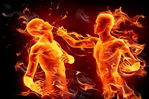 to fight fire with fire — вышибать клин клином, бороться с противником его же методами