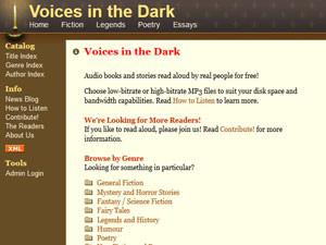 Voicesinthedark - оригинальный ресурс для прослушивания аудиокниг