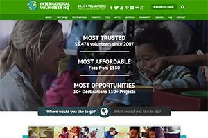 Сайт организации International Volunteer HQ