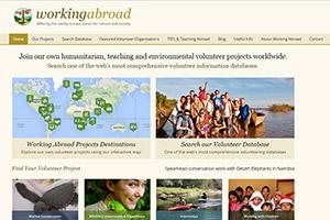 Cайт британской волонтерской организации Working Abroad