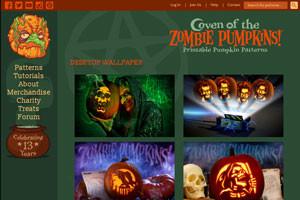 вырежьте самую оригинальную тыкву с помощью zombiepumpkins